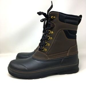 Khombu Boots Kenny Brown Black Snow Waterproof 12